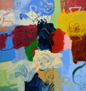 ARAWAK I, Acryl auf Leinwand, 200 x 190 cm, 1998