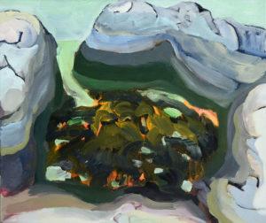 BRETONISCHE GEZEITEN X, Acryl auf Leinwand, 80 x 95 cm, 2000