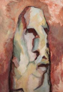 LE MANIO, Acryl auf Nessel, 100 x 70 cm, 1982