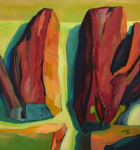 SALINE XIII, Acryl auf Nessel, 150 x 140 cm, 2006