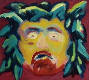 BACCHUS, Acryl auf Leinwand, 90 x 100 cm, 1993