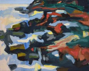 BRETONISCHE GEZEITEN I, Acryl auf Leinwand, 80 x 100 cm, 2000