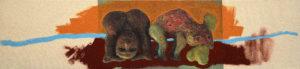 FRIES VON TREMALO II - II, Fotodruck und Acryl auf Nessel und Holz, 21 x 90 cm, 1996
