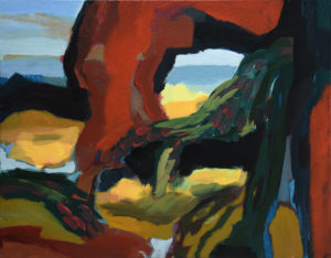 BRETONISCHE GEZEITEN V, Acryl auf Leinwand, 80 x 100 cm, 2000