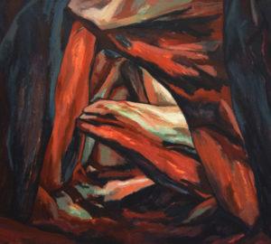 COAT LUZUEN - allée couverte, Acryl auf Nessel, 115 x 130 cm, 1987