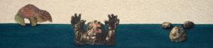 FRIES VON TREMALO II - IV, Fotodruck und Acryl auf Nessel und Holz, 21 x 90 cm, 1996