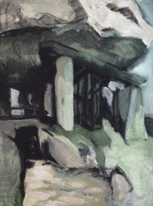 PIERRE BETON III, Acryl auf Nessel, 90 x 70 cm, 1980