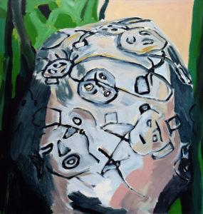 ARAWAK V, Acryl auf Leinwand, 200 x 190 cm, 1998