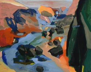 BRETONISCHE GEZEITEN VII, Acryl auf Leinwand, 80 x 100 cm, 2000