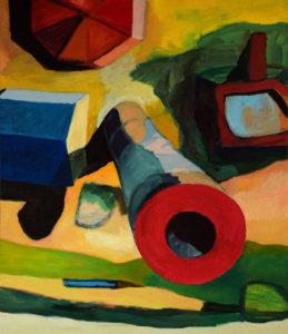 DORF LXXII, Acryl auf Leinwand, 150 x 130 cm, 2011