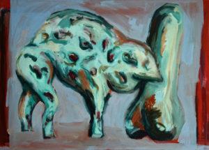 FROG, Acryl auf Nessel, 90 x 125 cm, 1992
