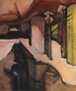 PIERRE BETON II, Acryl auf Nessel, 110 x 90 cm, 1980