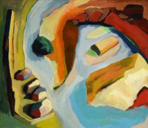 PYRAMIDENBUCHT, Acryl auf Leinwand, 80 x 90 cm, 2006