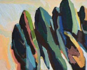 BRETONISCHE GEZEITEN VIII, Acryl auf Leinwand, 80 x 100, 2000