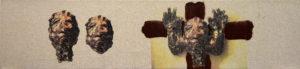 FRIES VON TREMALO II - VII, Fotodruck und Acryl auf Nessel und Holz, 21 x 90 cm, 1996
