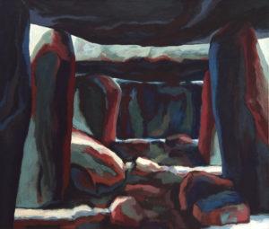 LA ROCHE-AUX-FEES VII, Acryl auf Nessel, 130 x 150 cm, 1985
