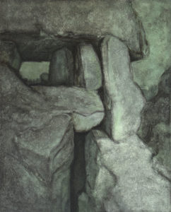 PONT DOLMEN II, Acryl auf Nessel, 110 x 90 cm, 1981