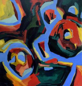 ARAWAK VII, Acryl auf Leinwand, 200 x 190 cm, 1999