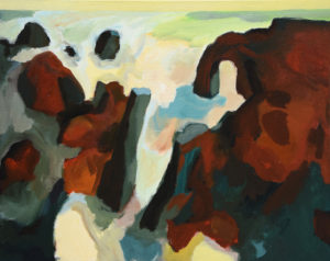 BRETONISCHE GEZEITEN XIII, Acryl auf Leinwand, 80 x 100 cm, 2007