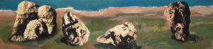 FRIES VON TREMALO II - XIV, Fotodruck und Acryl auf Nessel und Holz, 21 x 90 cm, 1996