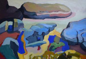 BRETONISCHE GEZEITEN XI, Acryl auf Nessel,80 x 115 cm, 2003