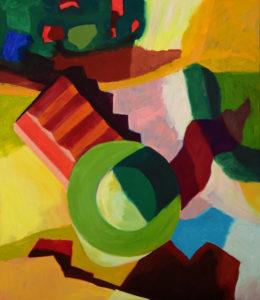 DORF LXXVI, Acryl auf Leinwand, 150 x 130 cm, 2012