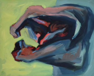 DRACHENFELS, Acryl auf Leinwand, 90 x 110 cm, 1993