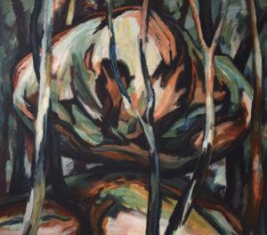 GOLEM IV, Acryl auf Nessel, 115 x 130 cm, 1988