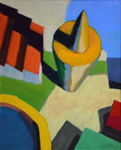 DORF LXXXIII, Acryl auf Leinwand, 50 x 40 cm, 2012