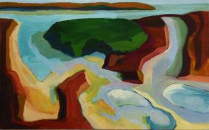 ILE RAGUENEZ IV, Acryl auf Leinwand, 90 x 145 cm, 2006