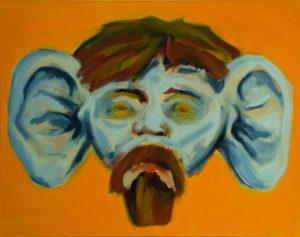 LAUSCHANGRIFF, Acryl auf Leinwand, 90 x 115 cm, 1993