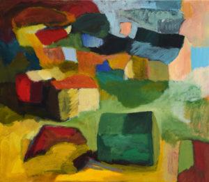 DORF LVI, Acryl auf Leinwand, 80 x 90 cm, 2010