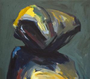 GOLEM IX, Acryl auf Nessel, 115 x 130 cm, 1994