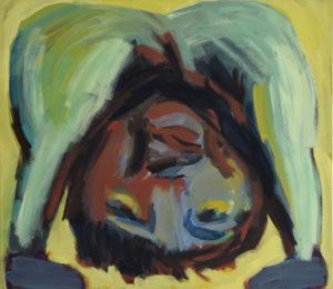 KOPF UNTER XII, Acryl auf Nessel, 90 x 100 cm, 1993