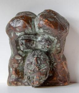 MORDSTRUMM WEI, Bronze, 9 cm hoch, 8 cm breit, 4,50 cm tief, 1995