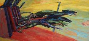 HATZ I, Acryl auf Leinwand, 110,5 x 238,5 cm, 1997