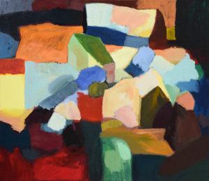 DORF LXVIII, Acryl auf Leinwand, 80 x 90 cm, 2011