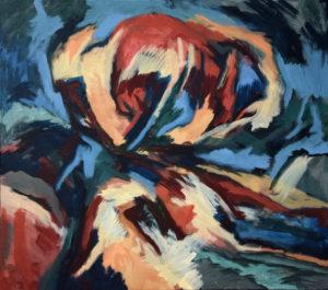 GOLEM VII, Acryl auf Nessel, 115 x 130 cm, 1988