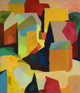 DORF LXVII, Acryl auf Leinwand, 150 x 130 cm, 2011