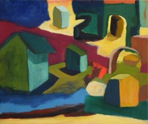 DORF XVIII, Acryl auf Leinwand, 50 x 60 cm, 2004