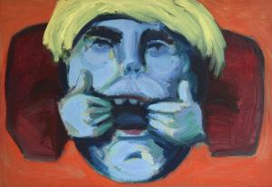 MAULREISSER II, Acryl auf Nessel, 90 x 130 cm, 1993