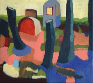 DORF XX, Acryl auf Leinwand, 40 x 45 cm, 2004