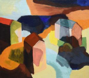 DORF XXXIII, Acryl auf Leinwand, 80 x 90 cm, 2007