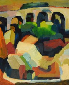 DORF XXXVII, Acryl auf Leinwand, 75 x 60 cm, 2008