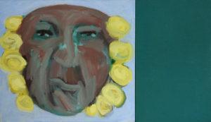 SONNENKÖNIG, Acryl auf Leinwand, 90 x 100 cm, 1993