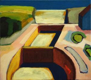 DORF XXI, Acryl auf Leinwand, 40 x 45 cm, 2005