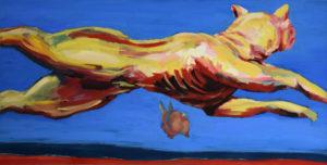 HATZ III, Acryl auf Leinwand, 100 x 190 cm, 1997
