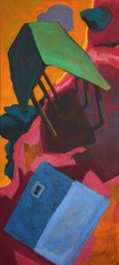 DORF CII, Acryl auf Leinwand, 130 x 60 cm, 2020