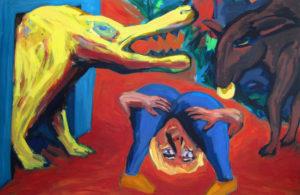 TREMALO, Acryl auf Leinwand, 190 x 290 cm, 1994