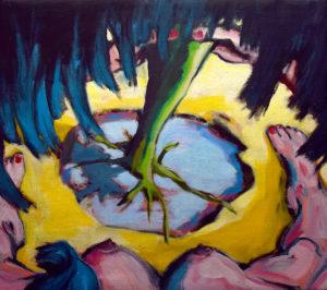VON AUSSEN III, Acryl auf Leinwand, 80 x 90 cm, 2021